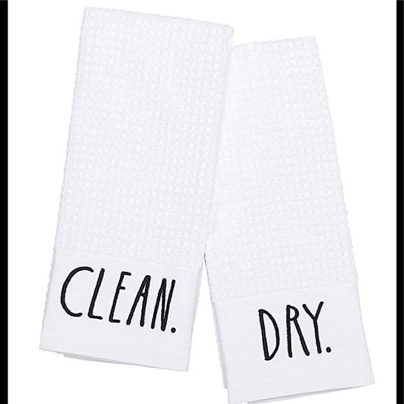 💚3/20$5/25 RAE DUNN CLEAN.DRY. KITCHEN TOWEL SET